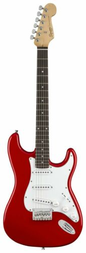 Squier Strat By Fender Full Size Electric Guitar Red