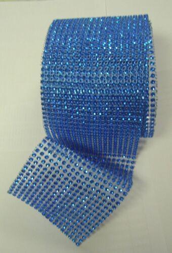 "4.5/"" x 1Yard Wedding Decoration Supplies Rhinestone Diamond Wraps Ribbon Mesh"