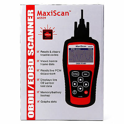 Maxiscan MS509 Car OBD2 Fault Code Reader Scanner Diagnostic Auto Scanner Tool