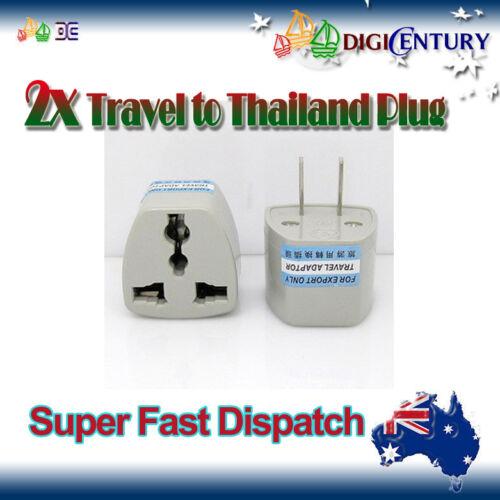 Thailand Mexico Adapter 2 Pin Japan 2x Power Plug Australia Travel to China