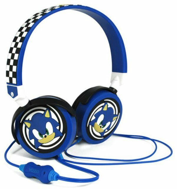SONIC THE HEDGEHOG Multi-Device Stereo Headphones SEGA GAMES Factory Sealed