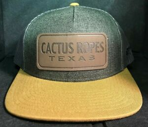 a85b7664c New 2019 Hooey Cactus Ropes Texas Rodeo Patch Hat CR042 Gray Team ...
