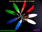 LOT 4 PAIRES DE BOUCLES D' OREILLES PLUMES / LOT BOUCLES D'OREILLES / CADEAUX