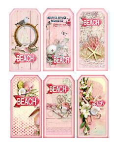 Beach-Tag-Style-Glossy-Finish-Card-Making-Topper-Crafts
