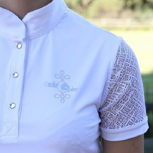 Fair Play  Cecile Ladies Competition Shirt in White  shop online