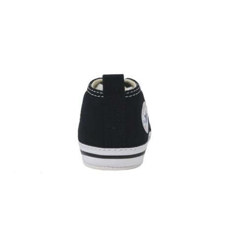 Converse First Star Black White Soft Sole Crib Babies New Born Baby Boys Shoes