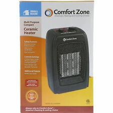 Comfort Zone Ceramic Space Heater Portable Adjustable Compact Thermostat 1500 W