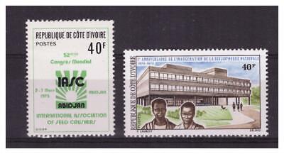 Cote D'ivoire Nr. 381/382. 2 Werte Neu ** . Wunderschön