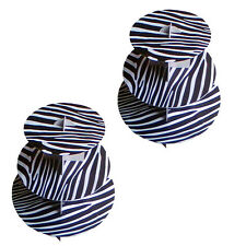 2 Pack Zebra Print 3 Tier Cardboard Cake Baby Shower Party Cupcakes Stand Tower