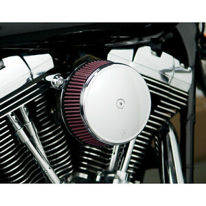 Arlen-Ness-Big-Sucker-Luftfilter-Chrom-Cover-Kit-fuer-Harley-Sportster-XL-91-17
