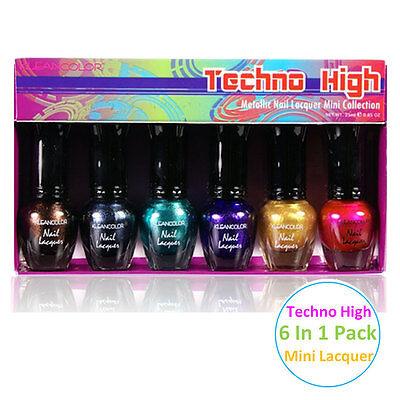 1 Kleancolor Techno High Metallic Nail Lacquer Mini Polish Nail Art 592