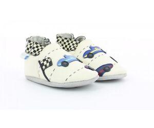 sehr bequem extrem einzigartig Wählen Sie für authentisch Details zu Robeez Krabbelschuhe Babyschuhe Socken Größe 17 - 22 Retro  Racing 607730 beige