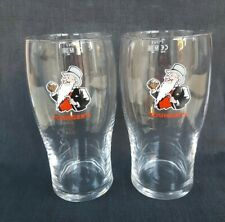2 X Wolf Rock RED IPA Pint Glases Brand New CE Bar Man Cave Gift