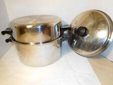 Saladmaster 6 Quart T304S Stainless Steel Dutch Oven 2 Lids High Dome and Vapo