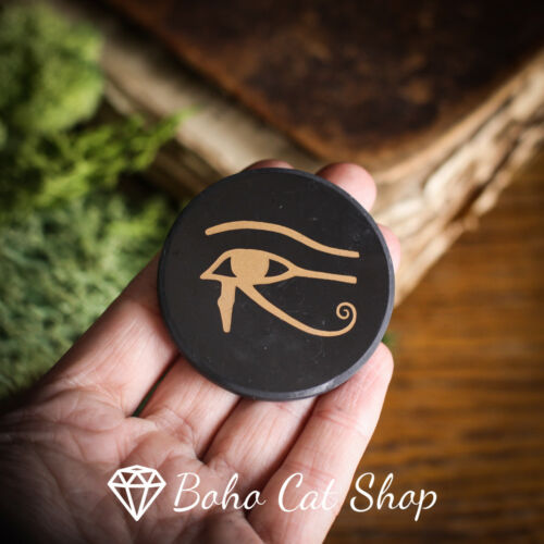 Shungite magnet disc Eye of Horus Eye of RAEMF PROTECTION