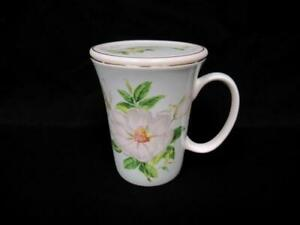Gracie Bone China Magnolia Cup and Saucer Platinum Rim Light Green