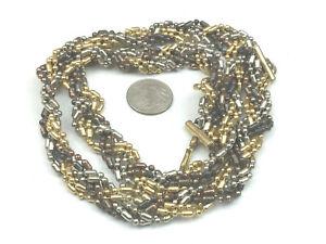 Vintage Copper Beaded Sash Necklace