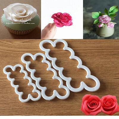 Silicone 3D Rose Flower Fondant Cake Chocolate Sugarcraft Mould Mold Decor Tool