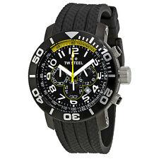 TW Steel Grandeur Diver 45 MM Black Steel Case Chronograph Mens Watch TW74