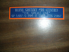 WAYNE GRETZKY NAMEPLATE FOR AUTOGRAPHED PUCK/JERSEY CASE/PHOTO