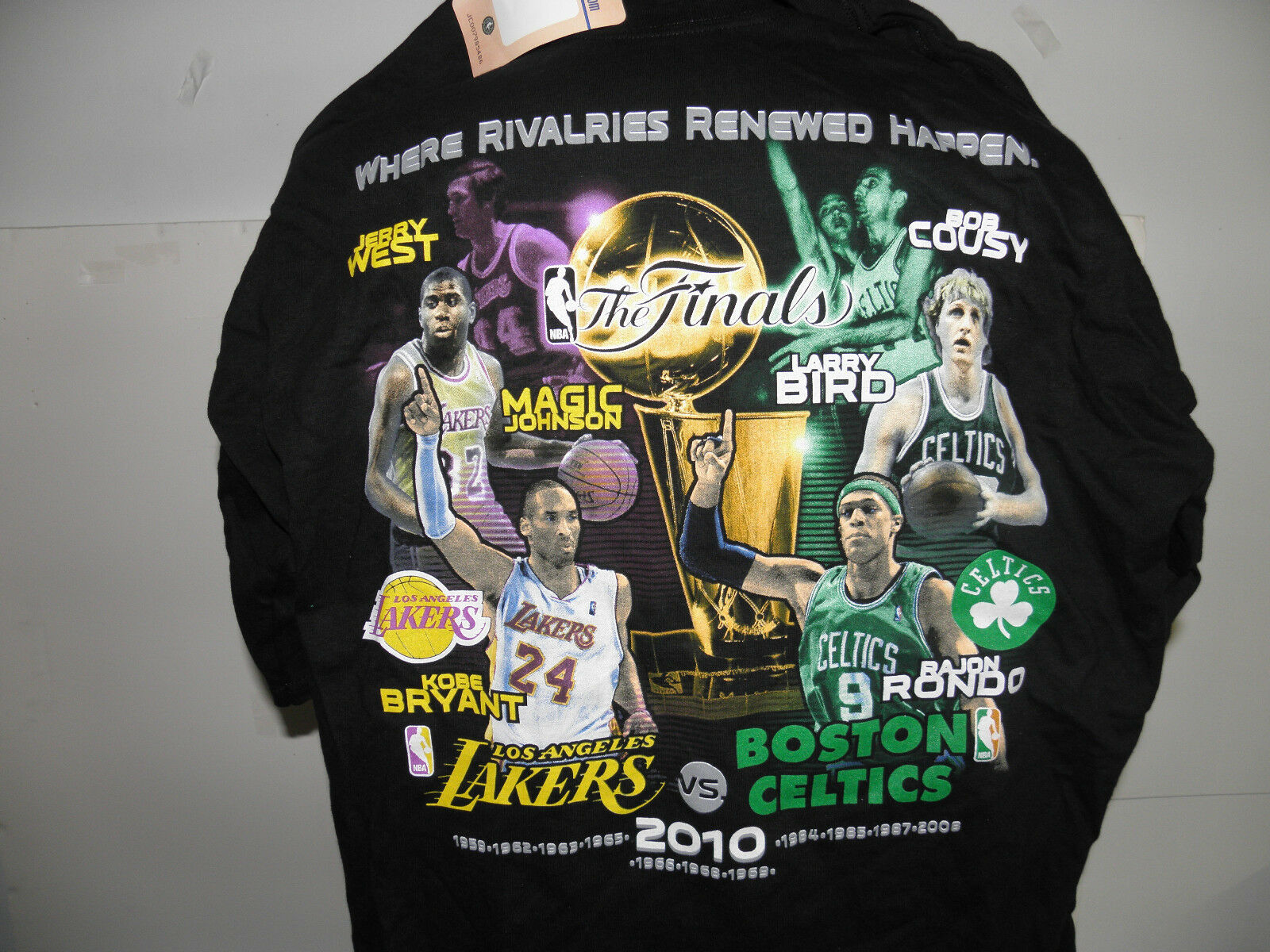 NBA 2010 The Finals Players Commemorative Series Titles T-Shirt Size XL (NWT)