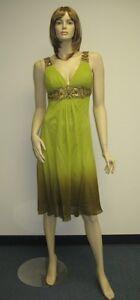0303f02e546 Sue Wong Dress 6 Evening Cocktail Gown Beaded  3 Avocado Light Green ...