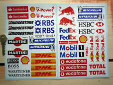 SCALEXTRIC Slot Model Racing Car STICKERS Modern Barrier Buildings Pits Dioramas