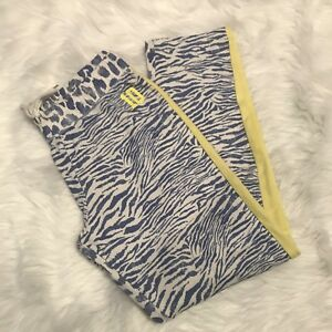 And Children Women Disciplined Victoria's Secret Womens Sweatpants Sz M Blue Yellow Elastic Waist Cotton Blend Suitable For Men