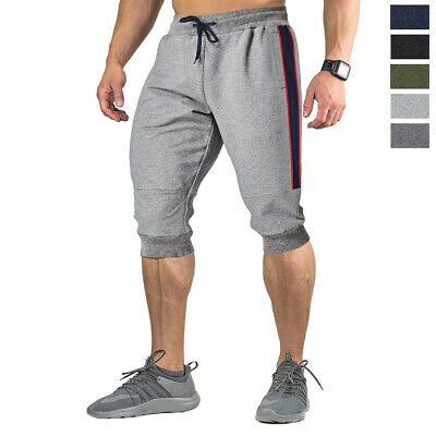 TACVASEN Mens Cotton Jogger Shorts 3//4 Capri Pants Sport Long Shorts Sweatpants