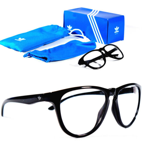 Adidas Originals Black Eyewear Specs EyeGlasses Clear Lens Sunglasses With Pouch