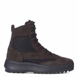 925561db264 Yeezy Men s Season 5 Black Suede Military Ankle High Boot Uk Size 6 ...