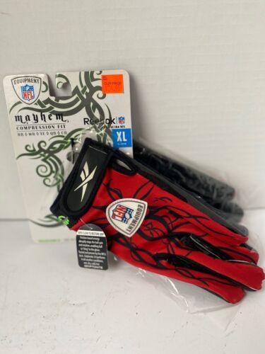 Reebok Mayhem Compression Men's Receiver Running Back Football Gloves XL NEW