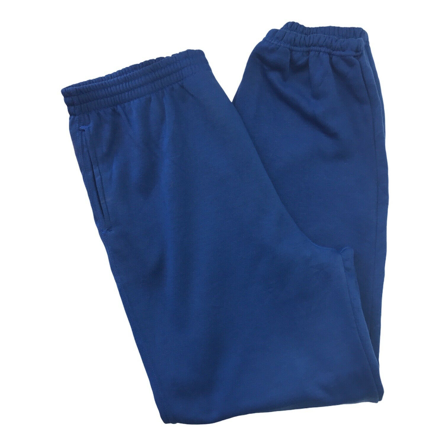 Eddie Bauer Men's Track Bottoms Joggers Blue Size: Large Side Pockets Gym