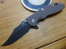 Rick Hinderer Knives XM-18 3.5 - Bowie - S35VN DLC - FDE G10 - Working Finish