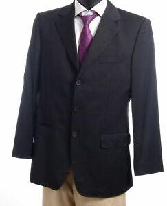 HUGO BOSS Sakko Jacket Portman Gr.50 schwarz uni Einreiher 3-Knopf -S434