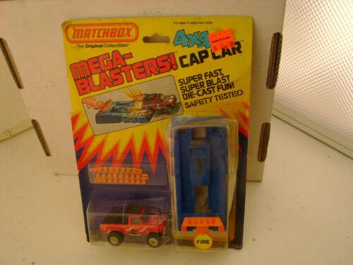 MATCHBOX MEGA-BLASTERS CAP CAR SUPER FAST SUPER BLAST 4X4 TRAIL TRAMP NEW ON