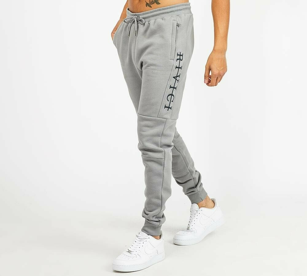Mens Rivici Latham Grey Jogger Pants (RVA1) RRP