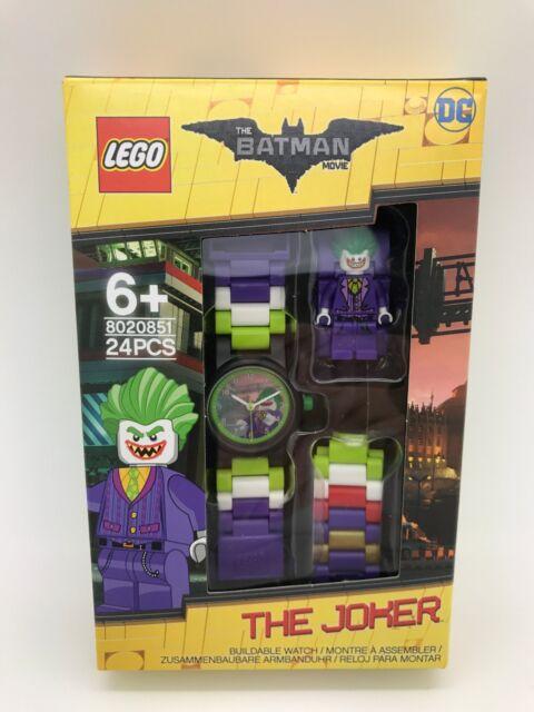 8ee2fd6c0a9 Lego Batman Movie 8020851 The Joker Kids Minifigure Link Buildable Watch
