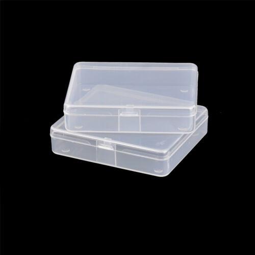 2x Transparent Plastic Storage Box Clear Multipurpose Parts Product Small Box XD