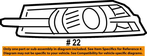 2011-2014 CRUZE DRIVER SIDE FOG LIGHT BEZEL TRIM PANEL W// SPORTS PKG GM 95980706