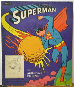 Image Is Loading RARE 1966 SUPERMAN COLORING BOOK Extra Large COLOR