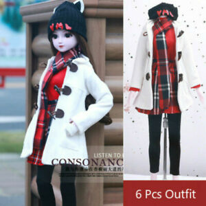 1//3 SD BJD Outfit Clothes Lolita Winter Suit for BJD Girl Doll 6 Pieces Full Set
