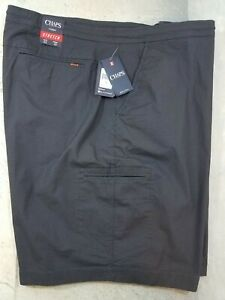 Chaps-Mens-Shorts-Size-52-Grey-Comfort-Drawstring-Waist-Media-Pocket-NWT-72