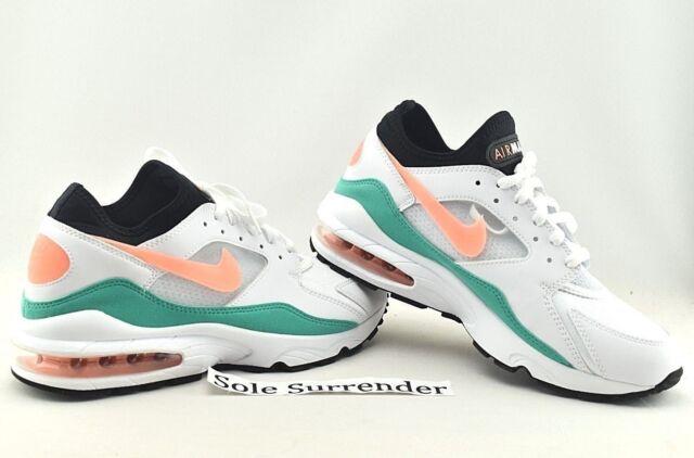 f17fa794c6 Nike Air Max 93 Watermelon Mens 306551-105 White Crimson Green Shoes Size 9
