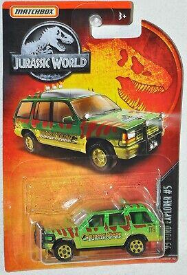 Matchbox Jurassic World Park 1993 Ford Explorer #4 Green Muddy Version HTF