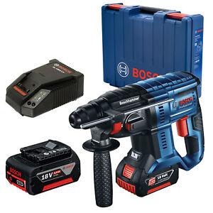 Bosch-Akku-Schlagbohrhammer-GBH-18V-20-2x-Akku-5-0-AH-Lader-Handwerkerkoffer
