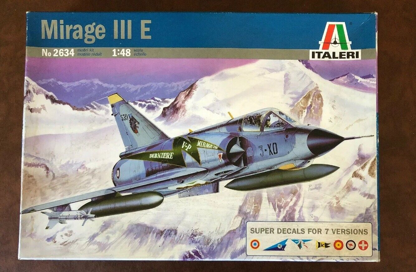 "ITALIERI 1  48 MIRAGE III E R R65533; ""FRAMTID 65533; f 2634 Neuf"