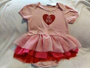 Nwt Baby Girl Children S Place Be Mine Pink Tutu Bodysuit 9 12 Months Ebay