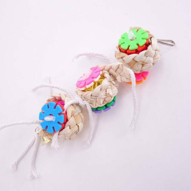 Parrot Toy For Parrots Bird Toys Swing Chew Rope Cockatiel Parakeet