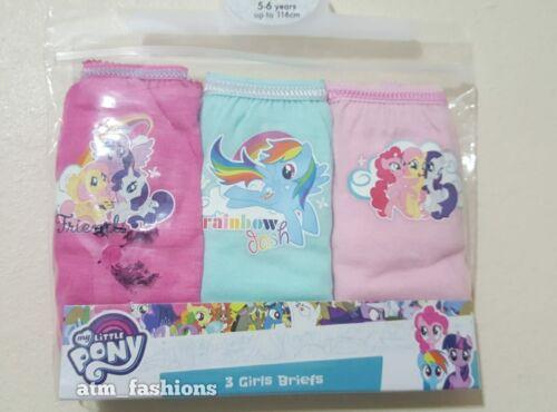 Mon petit poney enfants filles lot de 3 Coton Slips SOFT KIDS Slips Sous-vêtements Neuf